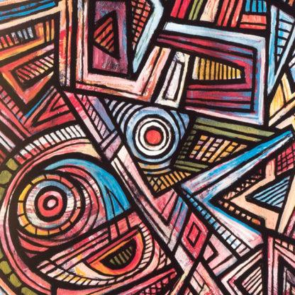 Artprint Joseph Amedokpo – Africa and Gods (75 × 75cm)